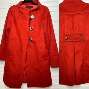 Zara woman 100% wool red peacoat jacket size small